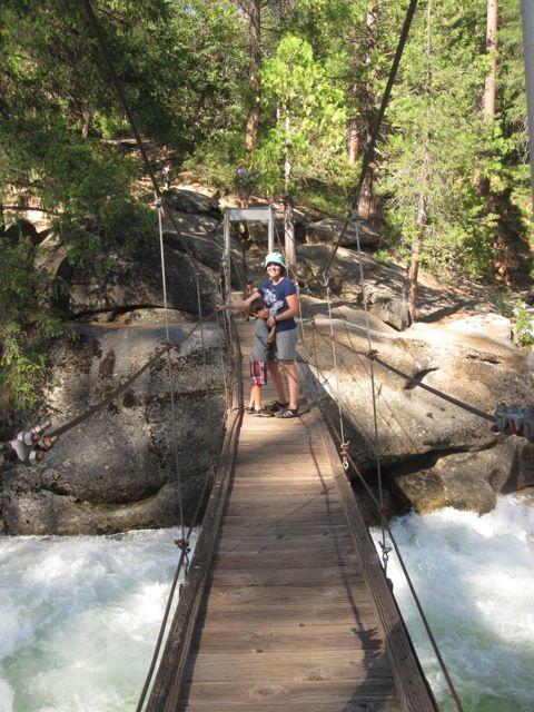 Where to Go in Yosemite With Kids: Swinging Bridge Trail - GoExploreNature.com -- a lot of great ideas for kids in yosemite