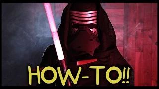 Make Your Own Kylo Ren Lightsaber and Costume! - Homemade How-to! - YouTube