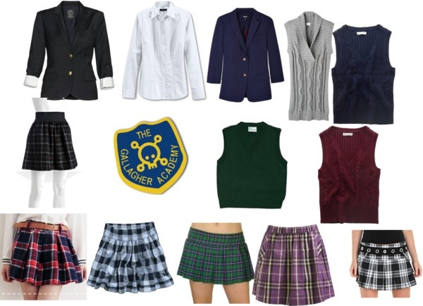 """gallagher girls uniform"" by ejdio99 ❤ liked on Polyvore"