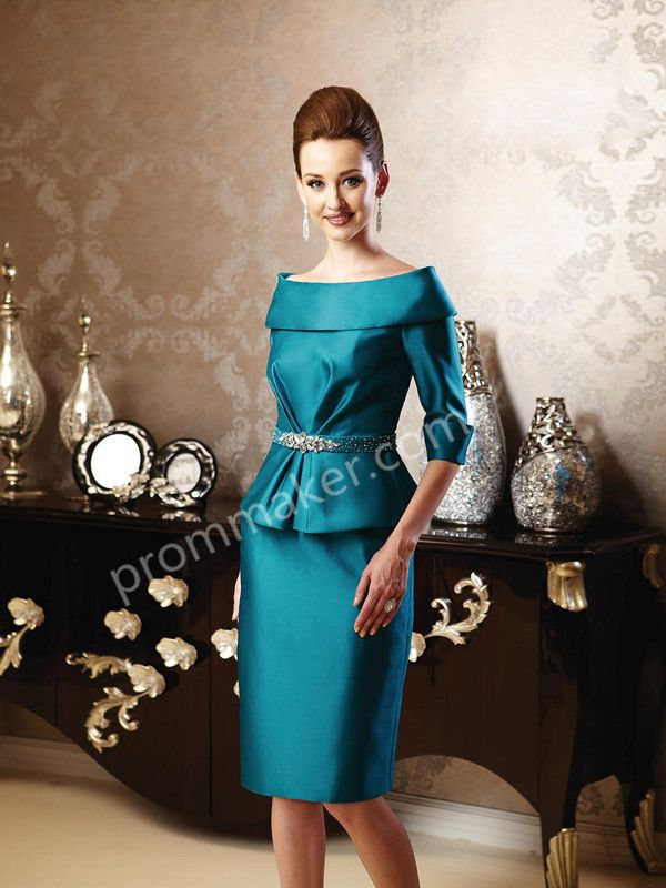 Sheath/Column Dark Mother Of The Bride Dresses With Beaded