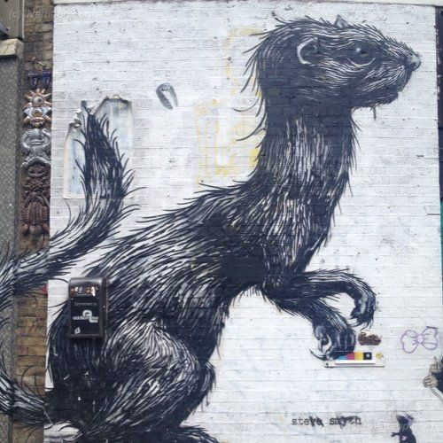 Roa Street Art in London. Would love to see some from NYC if anyone has any of their own shots. http://tinyurl.com/cf2yq4q: Brilliant Street, Street Art, Roa Street, Amazing Street