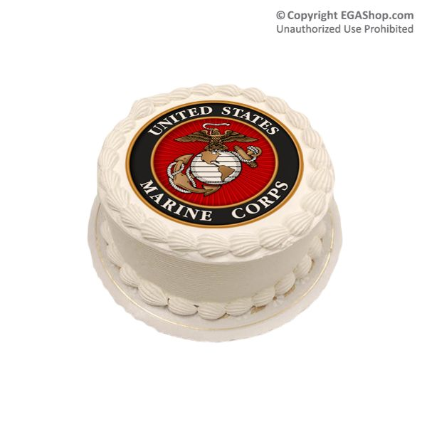 Cake Topper: Marine Corps Seal