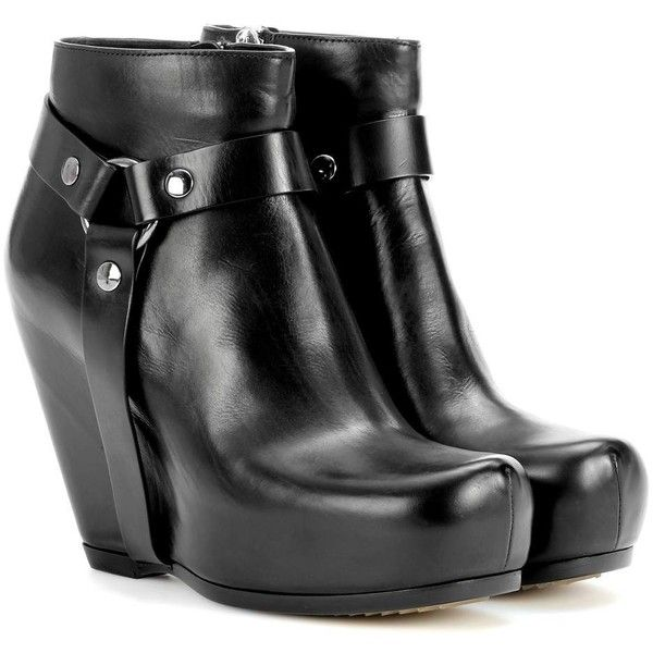 1000  ideas about Black Wedge Ankle Boots on Pinterest | Black ...