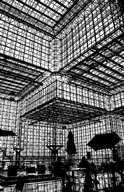 Mr. & Ms. Architectural Silhouette Enjoy Lunch with I.M. Pei / Jacob Javits Center, NYC.