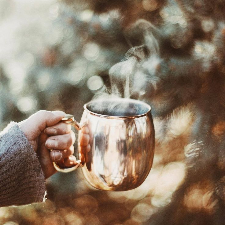 Perfection...coffee outdoors!!