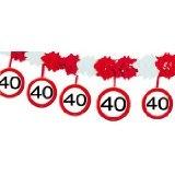 40. Geburtstag Girlande Verkehrsschild