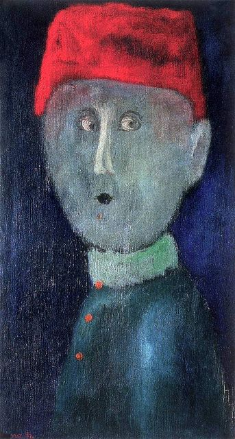 Anna, Margit (1913-1991) - 1967c. Boy in Red Cap (Private Collection) by RasMarley, via Flickr