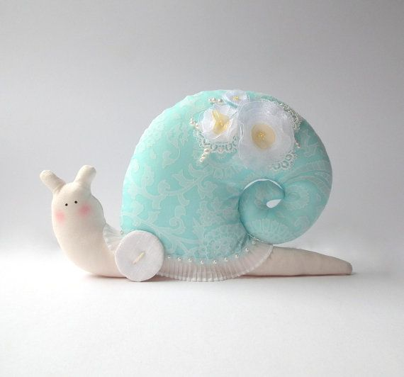 Snail Stuffed Snail Toy Shabby Chic Style Plush Toy