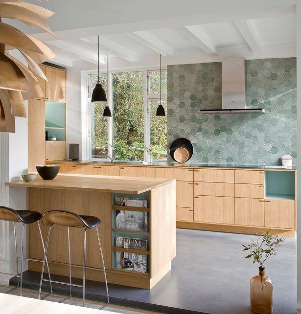 Phenomenal Scandinavian Kitchen Decorating Ideas Bar Stool Hanging Pendant Range Hood Window Above Sink Faucet Wooden Kitchen Flatware Holder