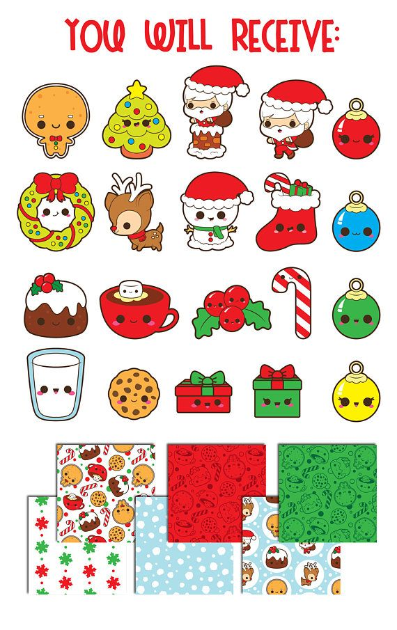 Christmas reindeer clipart, Christmas candy clipart