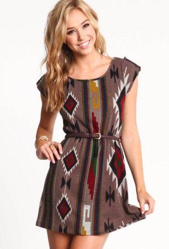 Belted Ikat Dress
