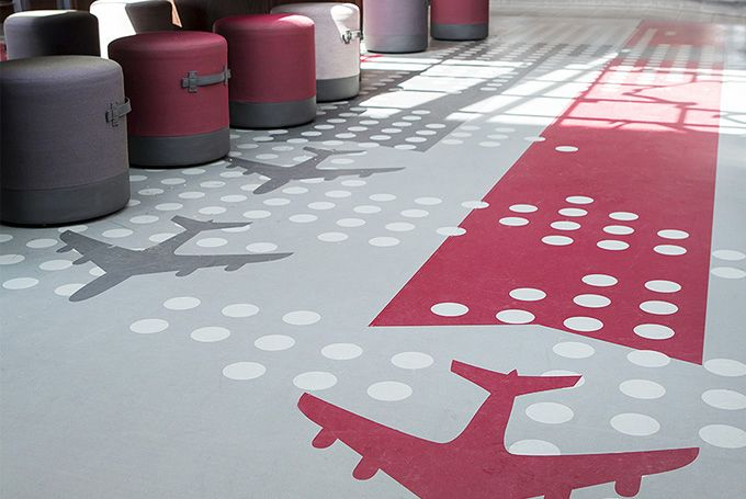 In Oslo Airport's departures lounge, our bespoke vinyl flooring was used to deliver a air...  Read more »