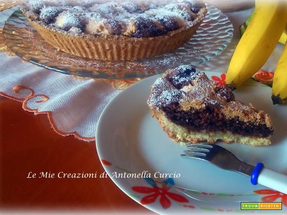 CROSTATA CIOCCO-BANANA SENZA GLUTINE  #ricette #food #recipes