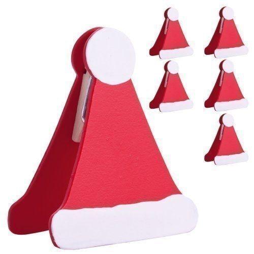 Assegna ad ognuno il proprio posto a tavola con questi simpatici segnaposto a clip a forma di berretto di Babbo Natale! SEGUICI ANCHE SU TELEGRAM: telegram.me/cosedadonna