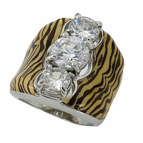 MEDIUM YELLOW/BLACK 3 STONE #SAFARI #RING JKR039MYLBK #jacquelinekent #ksajewelry #jacquelinekentjewelry