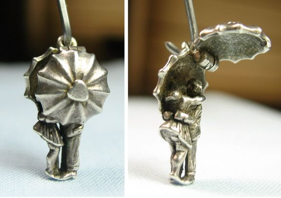 April showers parasol charm opens to lovers - sold for $63.56