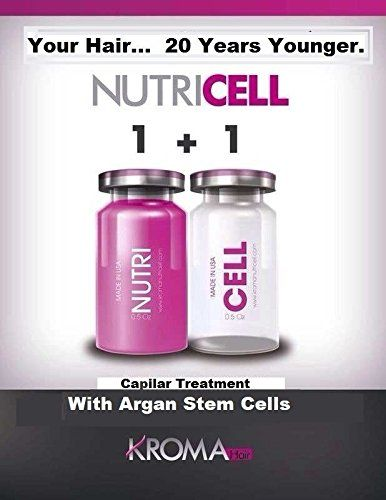 Botox for Hair Swiss NUTRICELL Serum Stem Cells Argan & Silk Protein Capillary Treatment after Keratin / Celulas Madre de Argan Tratamiento para el Cabello después de la Queratina