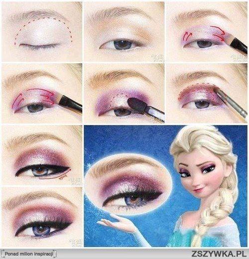 queen elsa makeup
