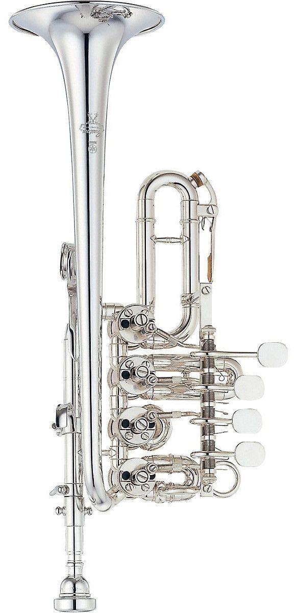 Yamaha YTR-988 Custom Rotary Piccolo Bb / A Trumpet | Silver Finish