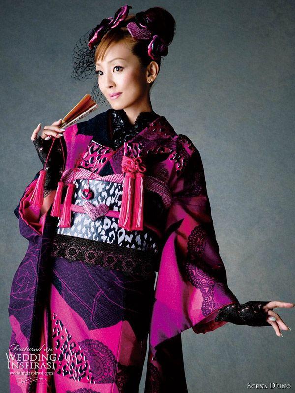 Colorful Wedding Kimono from Scena D'uno 2010   Wedding Inspirasi