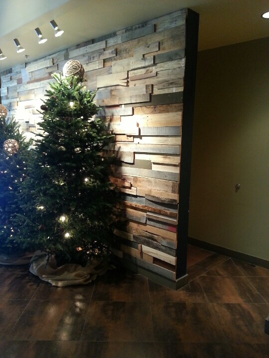Pallet wall-fireplace surround | diy project ideas ...