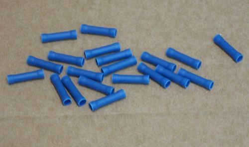 MA02521-1 Blue Insulated Butt Connector for 16-14 American Wire Gauge 20 Pack