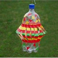 pop bottle wind spinner/ windvanger gemaakt van een lege fles