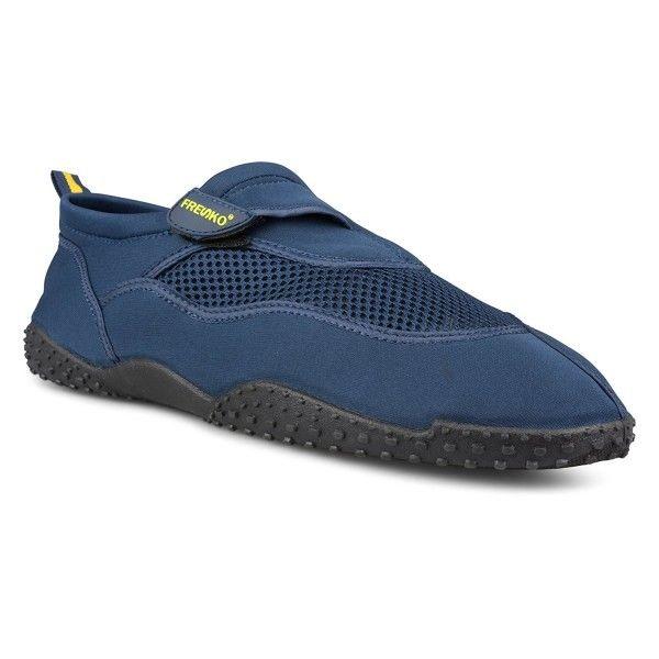 Large Mens Athletic Water Swim Shoe For Beach- Velcro Closure - Navy -  CV1802N2MTQ | Water shoes for men, Swim shoes, Water shoes