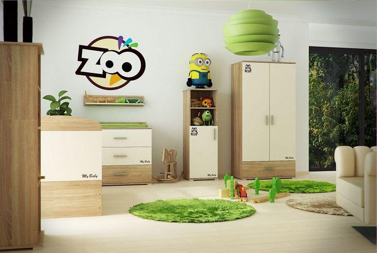 Todi Zoo 2 ajtós 1 fiókos nagy szekrény, Todi Zoo 2 ajtós 1 fiókos nagy szekrény , Zsebi Babaáruház