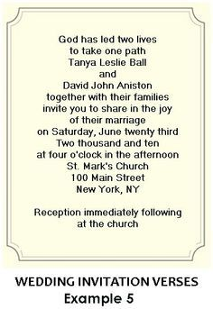 Wedding Invitation Wording From Bride And Groom With Prayers Google Search Invitations