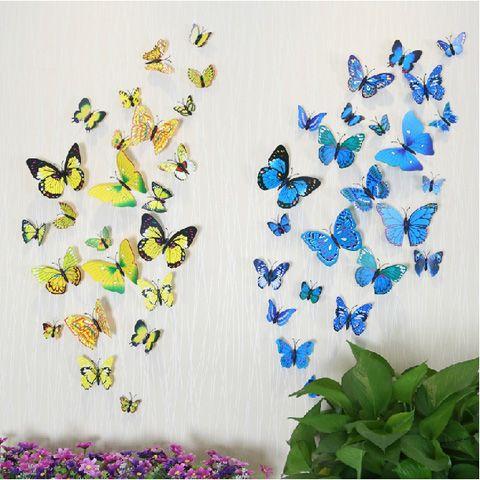 3D трехмерные наклейки бабочки холодильник магнит свадебные фотографии реквизит 12 костюм украшение дома