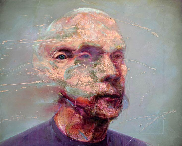 » Inquietantes Pinturas de Retratos Distorsionados por Mathieu Laca
