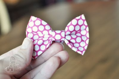 How to make a bowtie - for headbands, etc!