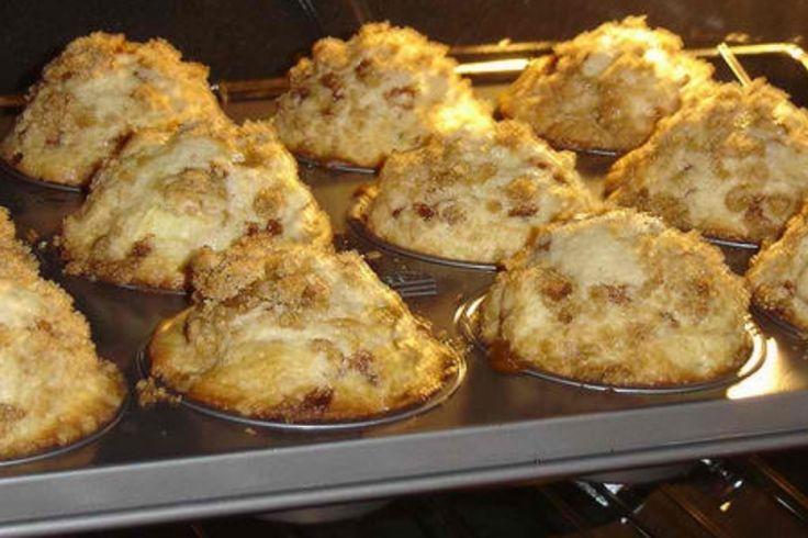 Un muffin aux pommes et à la cannelle parfait...un intérieur moelleux, une garniture croquante