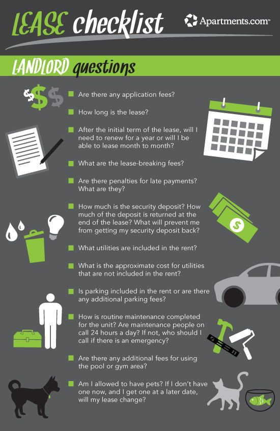 Apartment Search Checklist - Apart of Life Blog
