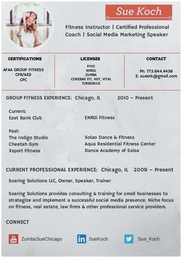 Sample Resume Zumba Instructor Resume Templates In 2020 Zumba Instructor Group Fitness Instructor Zumba
