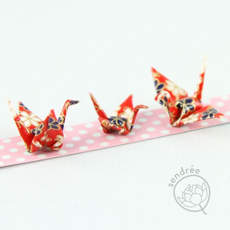 famille de mini grues origami mini cranes family origami