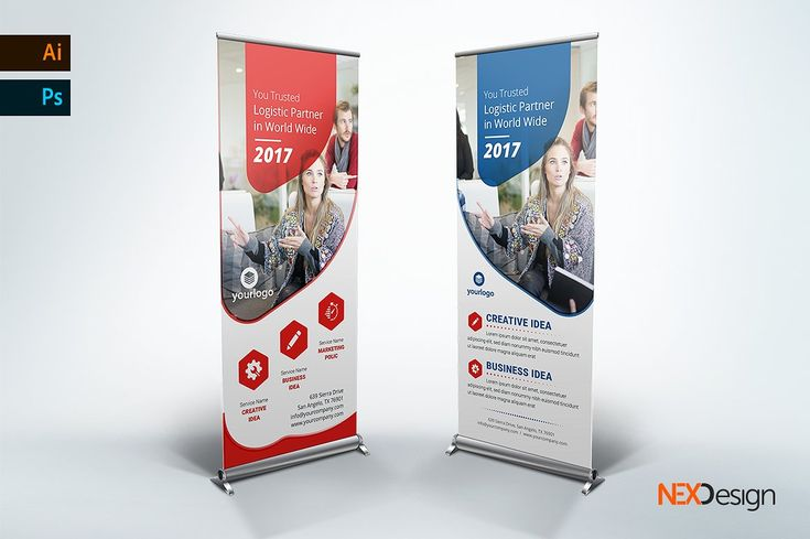 Business Rollup Banner - nex #Ad , #sponsored, #Color#CMYK#mode#Editable