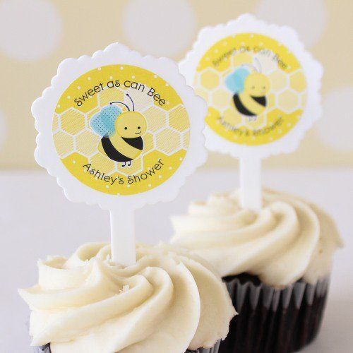 Bring even more cute to your baby shower cupcakes with these adorable cupcake picks!