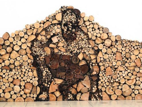 Wood Pile Art: When Chopping Logs Isn't Challenging Enough