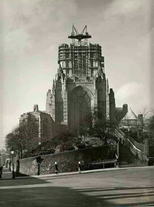 Liverpool Cathedral Being Built