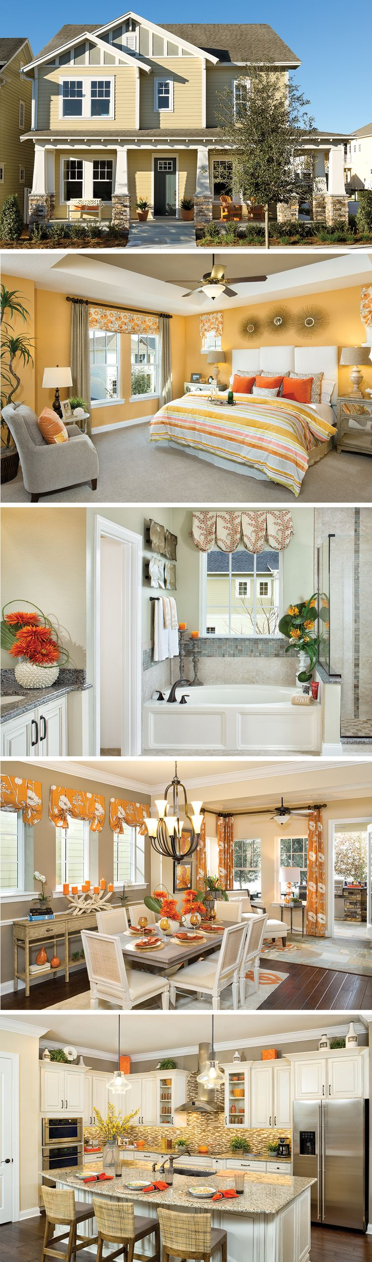 The Riddick by David Weekley Homes in Spring Lake at Celebration is a 3 or 4 bedroom floorplan that features a lanai, a sunroom and a large owners retreat with tray ceilings. Custom home upgrades include a super shower in the master bath, sliding glass doors at the lanai, or an adjusted kitchen layout to fit your needs.