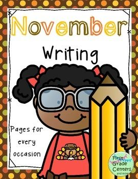 This set contains 21 writing pages for the month of November. They can be used in a writing center, during writing instruction, for morning work, during Social Studies, and more! They will keep your students busy all month! The pages included are: Writing Journal Cover