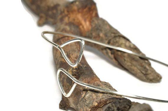 Bangle bracelet set,  geometric triangle
