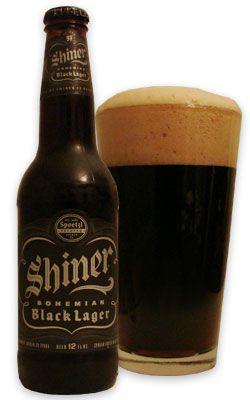 Shiner Bohemian Black Lager. I LOVE SHINER BLACK.