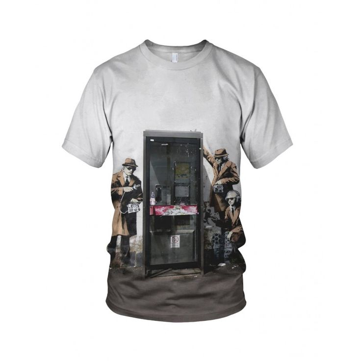 """Spy, from the collection of """"Hand Printed"""" Designs by the prolific street artist known as """"Banksy"""".   More Designs and Styles on the Store: http://www.globalmusicollective.com/store/?product_cat=banksy"""