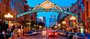 San Diego's Historic Gaslamp Quarter.  The place to be so many restaurants, bars, clubs, and shops you'll find it hard to decide where to go first!