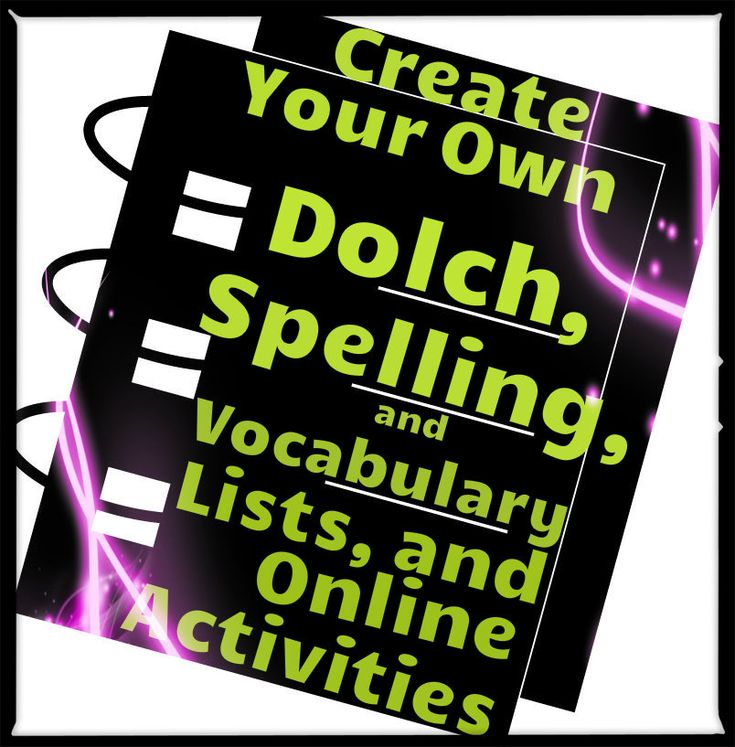 This is a fantastic website that allows free access to spelling and vocabulary lists created by other teachers, and also allows you to create your own customized lists and (online and printable activities) for free!