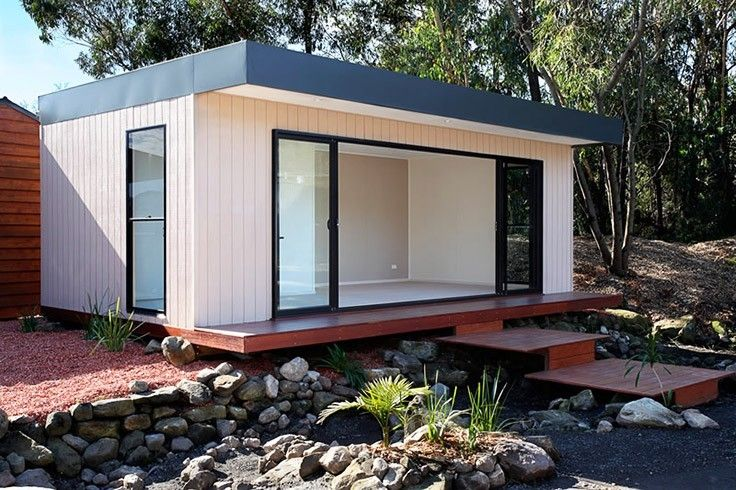 Backyard Studio Granny Flat – Studio style unit, customised with deck & leading walk way. More Sydney Case Studies available here. Constructed by Greenwood homes based.