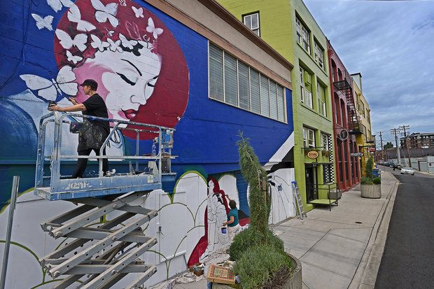78 best images about street art on pinterest space for 6 blocks from downtown mural